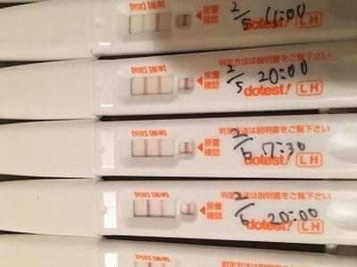 排卵検査薬の陽性反応見本